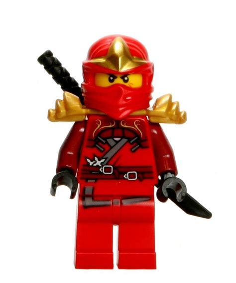 film ninja red lego ninjago minifigure kai zx gold armor shamshir swords