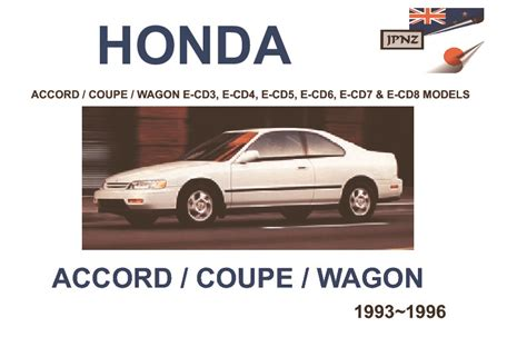 auto repair manual online 1983 honda accord user handbook honda accord coupe wagon owners manual 1993 1996