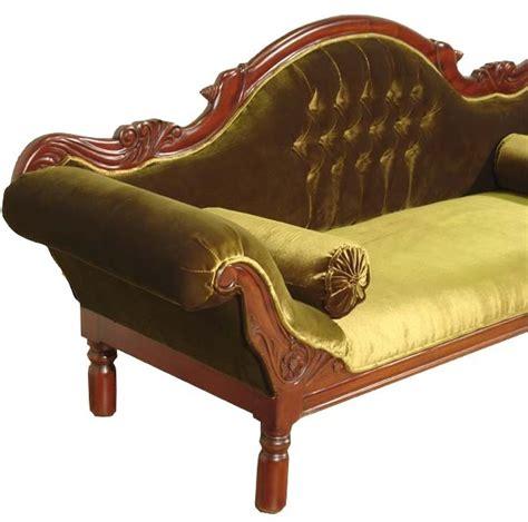 style de canap canap colonial acajou velours vert grignon meuble de style