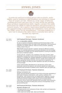Sample Resume For Handyman Position - UN Mission - Resume and ...