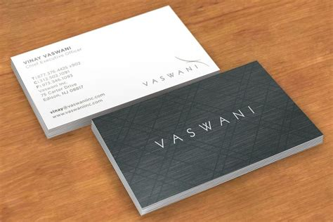 business card design layout vaswani business card design