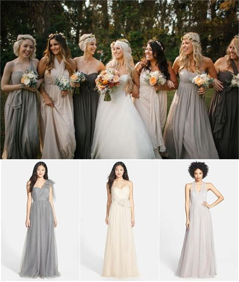 color bridesmaid dresses mismatched bridesmaid dress ideas for fall weddings