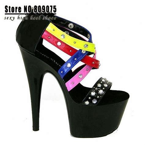 high heels stiletto 7 inch free shipping 17cm high heel sandals gorgeous neon