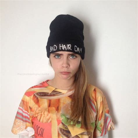 3 In Beanie Hat Tshirt hat beanie quote on it t shirt cara delevingne shirt
