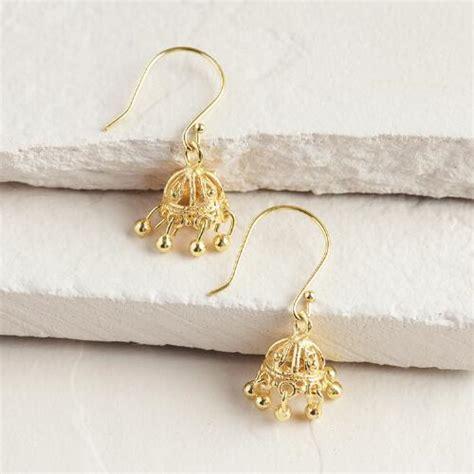 gold indian style dangle earrings world market