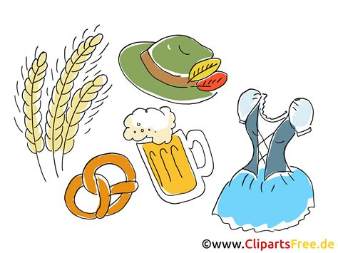 oktoberfest clipart bild grafik illustration comic