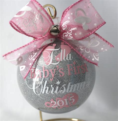 baby s first christmas ornament personalized new baby