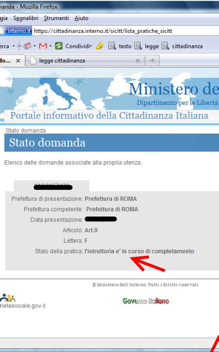 ministero interno consulta la tua pratica ministero degli interni cittadinanza idea immagine home