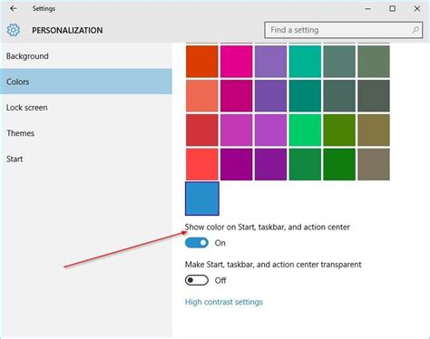 Start To Colour 2 how to change taskbar color in windows 10