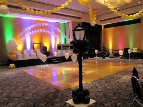 Ceiling and Dance Floor decor for a formal Mardi Gras