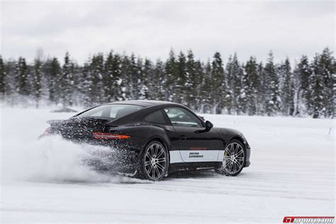 porsche 911 snow gtspirit bucket list porsche winter driving experience