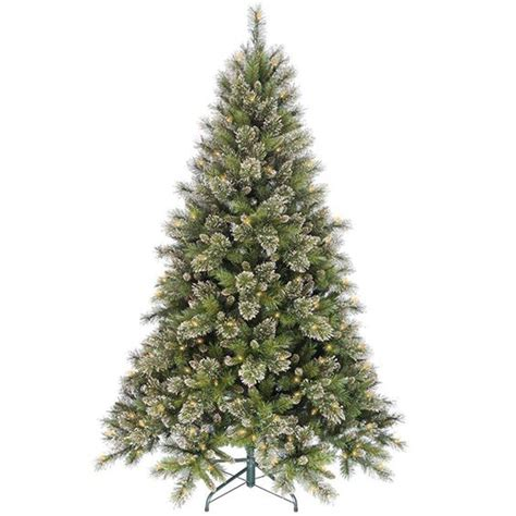 martha stewart living 7 5 ft pre lit led snowy fir