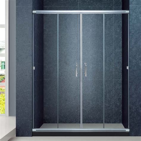 The Best Custom Semi Frameless Bathrom Sliding Screen 60 Inch Frameless Glass Shower Doors
