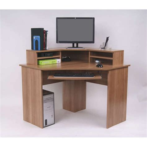 for desk ferrera corner desk oak effect 740 x 1000 x 1000mm
