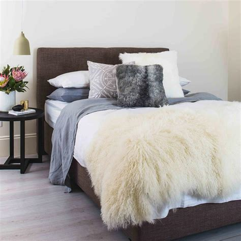 sheepskin throw rug large white genuine mongolian sheepskin hide hair sheep skin rug bed throw ebay