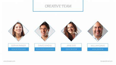 team presentation template hexagon powerpoint presentation template by scopulus