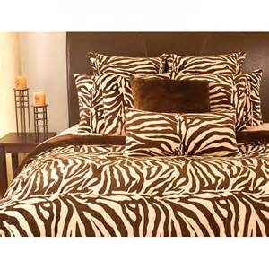 microplush zebra print king size 3 piece comforter set by