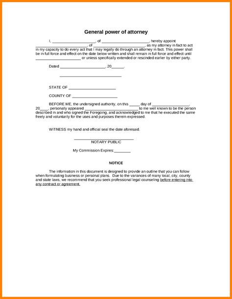 free power of attorney template 14 simple power of attorney letter template ledger paper