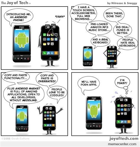 Android Versus Iphone Meme by Android Vs Iphone No Sweat By Ben Meme Center