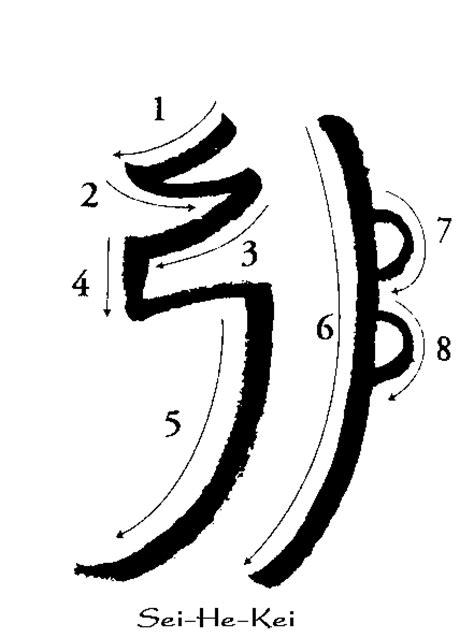 sei  ki  mental symbol hands  light