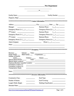 Pre Plan Form Fill Online Printable Fillable Blank Pdffiller Department Pre Plan Template