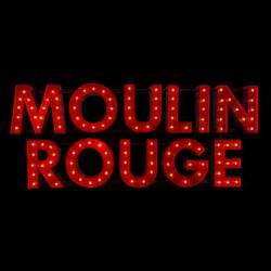 Vintage Curtains And Drapes Marquee Light Sign Moulin Rouge