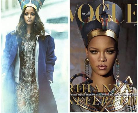 rihanna pays homage to queen nefertiti for vogue arabia rihanna pays homage to queen nefertiti peep the latest