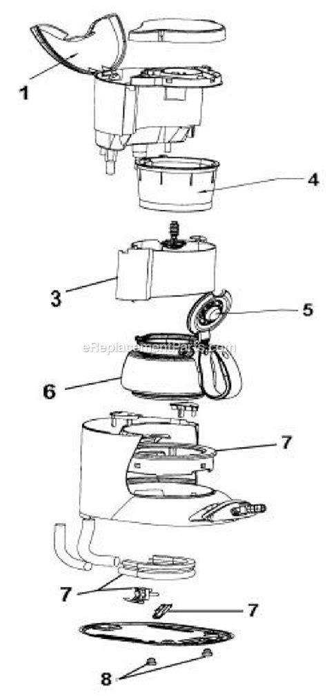 mr coffee parts diagram mr coffee nl4 parts list and diagram ereplacementparts