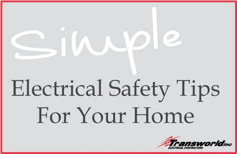 simple electrical safety tips to protect your home