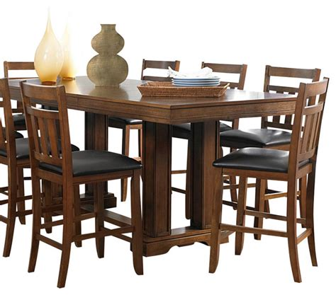 homelegance kirtland 9 piece double pedestal dining room homelegance kirtland 7 piece counter dining room set in