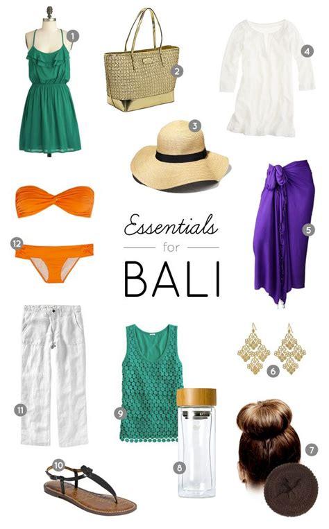 packing list essentials  bali indonesia bali