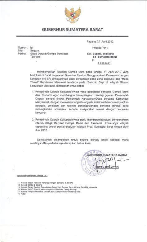 format surat pernyataan dari gubernur 7 mei 2012 patusa research zone