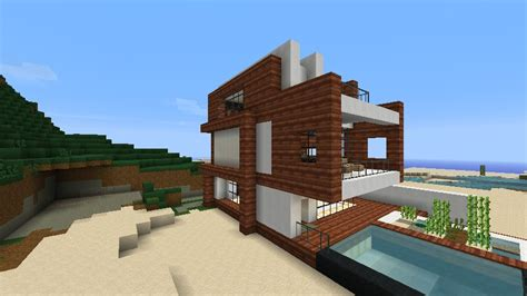 Spanish Home Plans by Small Modern Beach House Schematic Minecraft Project