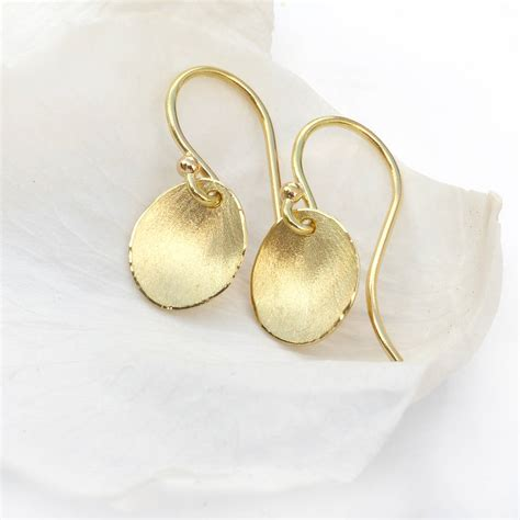 Flower Petals Earrings Black No 02a35cr flower petal earrings in 18ct yellow gold by lilia nash