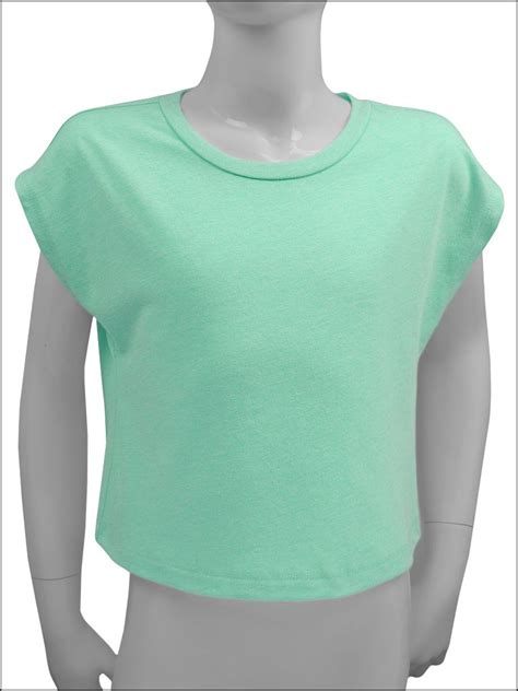 Tshirt Baseball Minie Series Crop T Size Xl Ld 100cm sheer jersey scoop neck boxy crop youth in style cheer