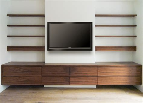 Media Wall Shelves Designs Pictures Homesfeed Bookshelves For Walls