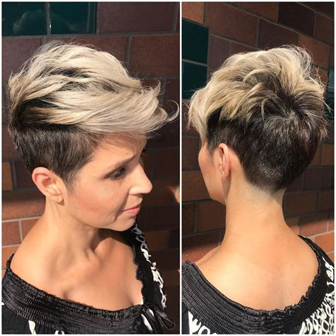 two tone color hair and styles for women short two tone hairstyles best short hair styles