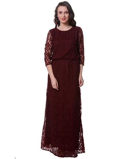 Elis Maxi Maroon 1 buy purys maroon polyester maxi dress at best prices in india snapdeal