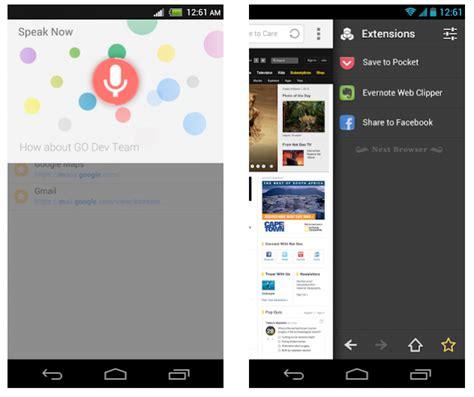 next browser for android next browser le navigateur de l 233 quipe go launcher dev
