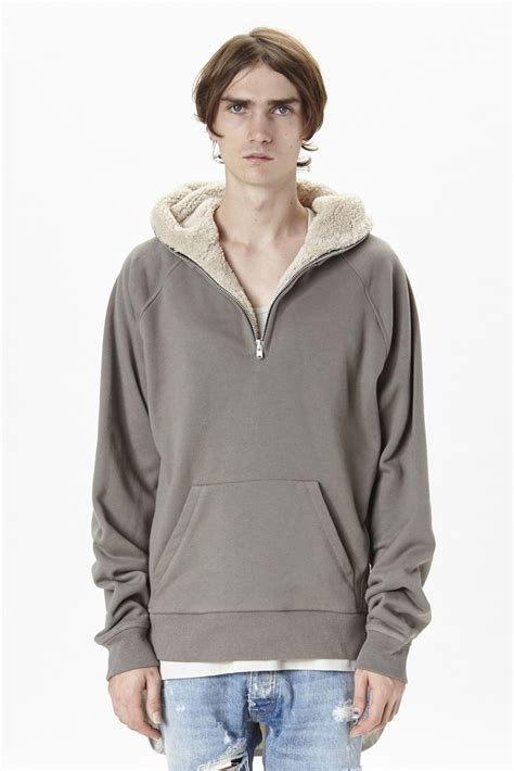 Fear Of God Fur Hoodie spotted j balvin in fear of god opening ceremony