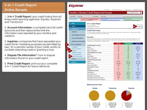 Credit Report Format Equifax Equifax 3 Bureau Monitoring With Credit Score