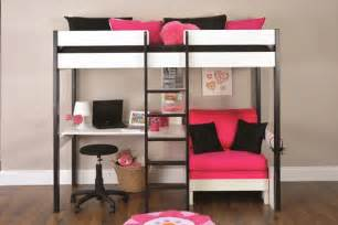 Bunk Bed With Futon And Desk Bunk Beds Stompa Uno Wooden High Sleeper With Futon Chair Click 4 Beds