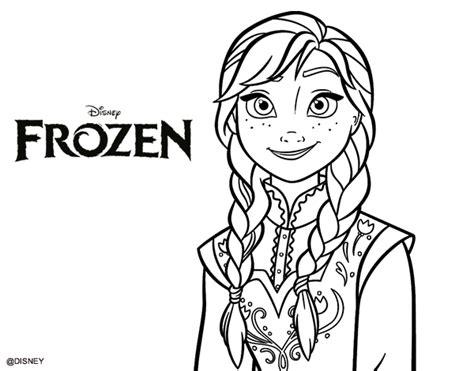 dibujos para colorear de elsa y anna frozen princesas disney dibujo de anna de frozen para colorear dibujos net