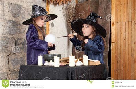 two little witches a two little witches royalty free stock images image 26464229