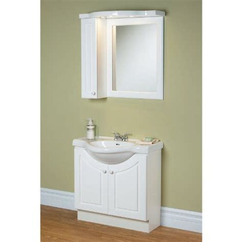 Magickwoods White Eurostone 32 In Single Bathroom Vanity Space Saving Bathroom Vanities