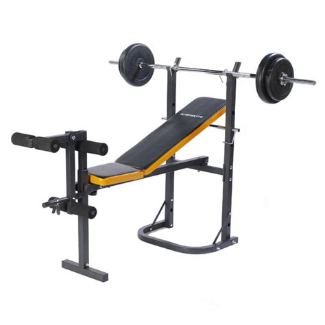 weight bench with bar weight trainiing bench 50kg vinyl l weights set bar