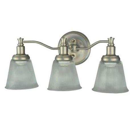 Home Depot Vanity Light Fixtures Martha Stewart Living Wayland Collection 3 Light Brushed Nickel Plated Vanity Light V356nk03