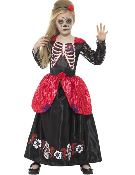 Princess Dia de los Muertos Costume for Children: Kids Costumes,and fancy dress costumes   Vegaoo
