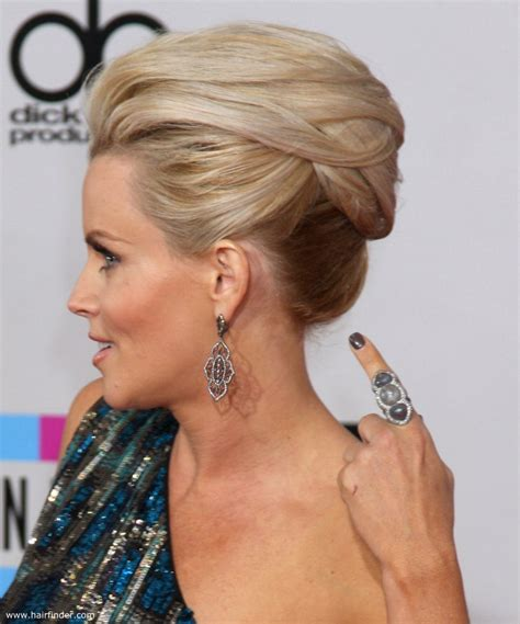 modern black hair updo jenny mccarthy fresh and modern updo with mega volume