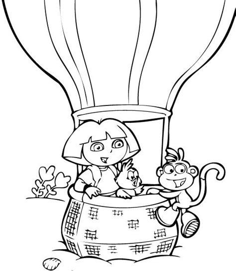 Coloriage Dora En Montgolfiere Gratuit 224 Imprimer Dessin Coloriage Pour Enfant L